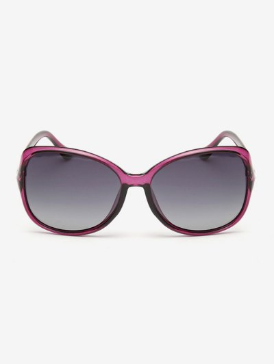 Ombre Butterfly Sunglasses - PURPLISH RED  Mobile