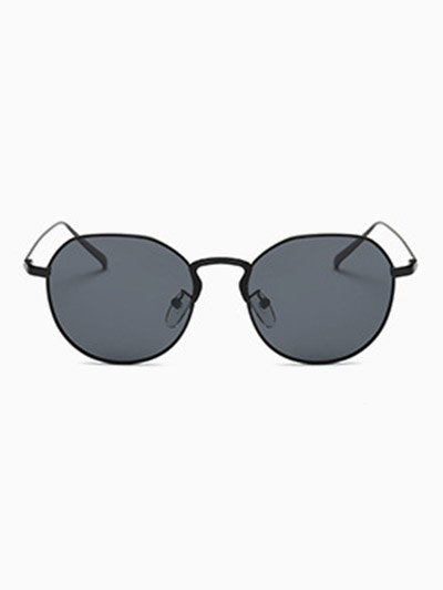 Metal Frame Pilot Sunglasses - BLACK  Mobile