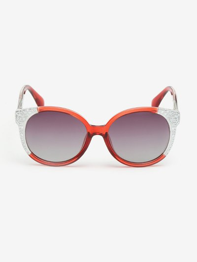 Two Tone Ombre Sunglasses - RED  Mobile