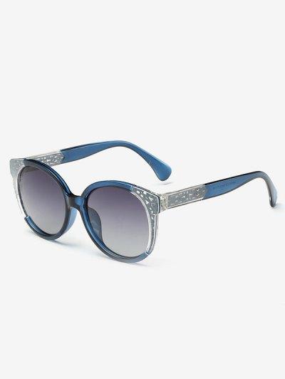 Two Tone Ombre Sunglasses - BLUE  Mobile