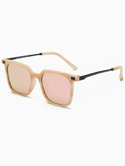 Square Mirrored Sunglasses - PINK  Mobile