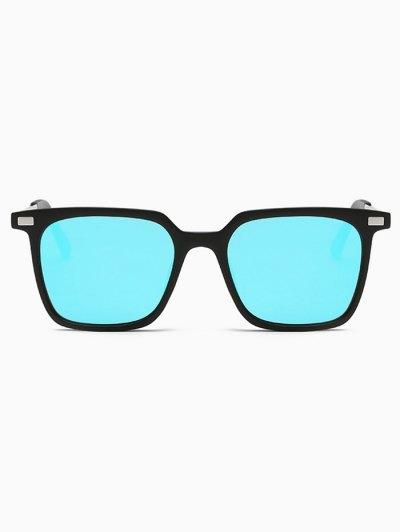 Square Mirrored Sunglasses - BLUE  Mobile