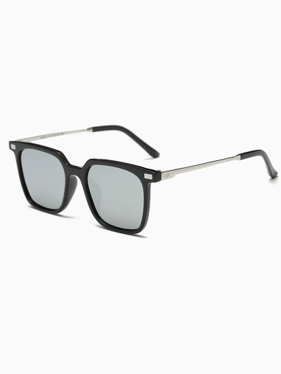 Square Mirrored Sunglasses - SILVER  Mobile