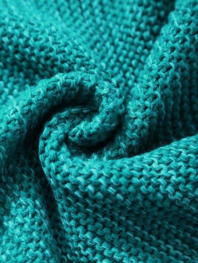Knitted Sleeping Bag Mermaid Blanket - GREEN  Mobile