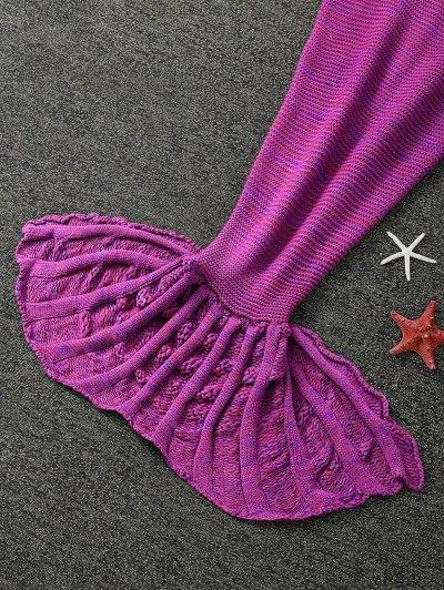 Knitted Sleeping Bag Mermaid Blanket - VIOLET ROSE  Mobile