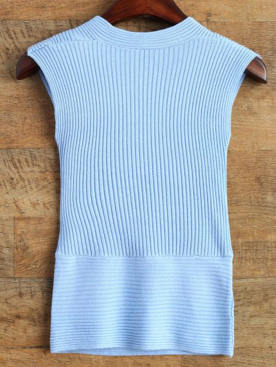 Vest Wrap Sweater - BLUE ONE SIZE Mobile