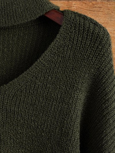 Choker Oversized Sweater - ARMY GREEN ONE SIZE Mobile
