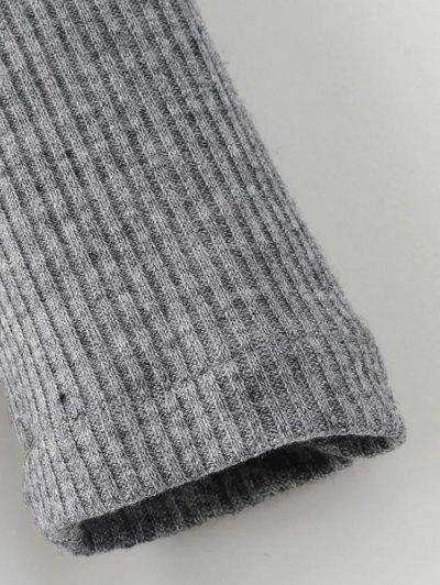 Raglan Sleeves Shirt Neck Panel Jumper - BURGUNDY M Mobile
