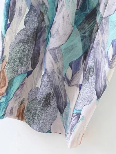 Printed Midi Sheath Dress - MULTICOLOR S Mobile
