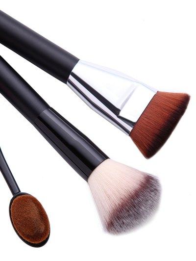 3 Pcs Makeup Brushes + Beauty Blenders + Brush Egg - BLACK  Mobile