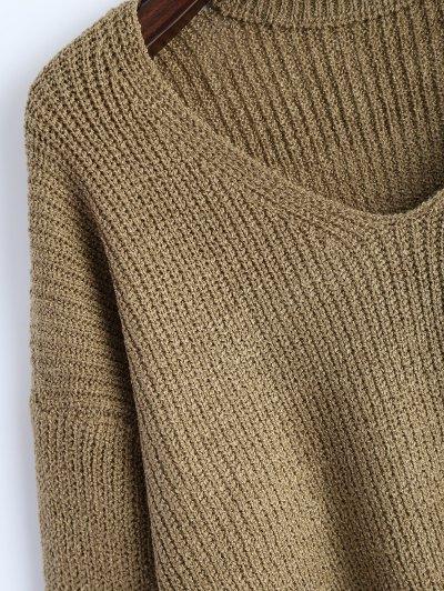 Choker Oversized Sweater - KHAKI ONE SIZE Mobile