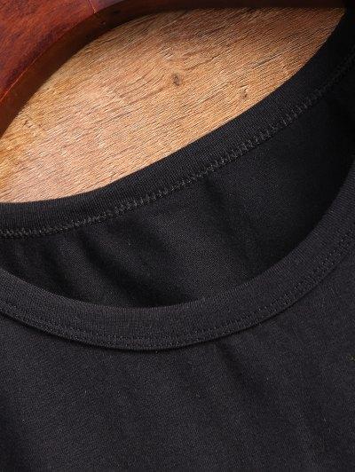 Fitting Letter T-Shirt - BLACK M Mobile