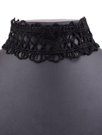 Lace Crown Choker Necklace - BLACK  Mobile