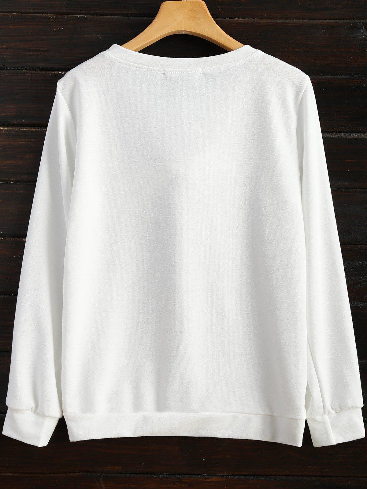Pom Sweatshirt - WHITE 2XL