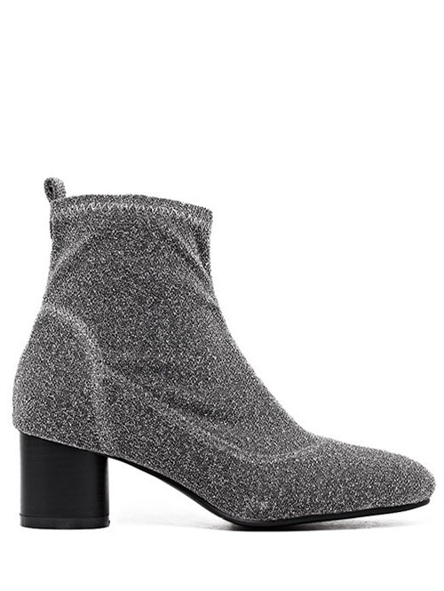 Round Toe Chunky Heel Ankle Boots 203064401