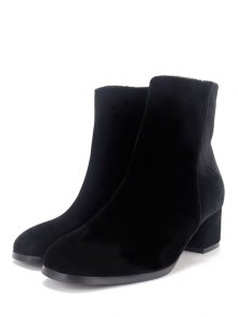 Round Toe Zip Chunky Heel Ankle Boots BLACK: Boots | ZAFUL