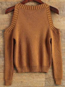 Loose-Fitting Cold Shoulder Sweater