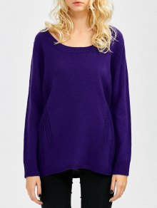 Scoop Neck Oversized Sweater