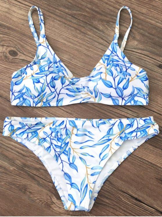 Bright Printed Bikini Set - BLUE XL Mobile