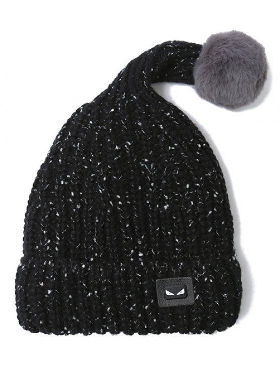 Demon Label Flanging Knit Hat - BLACK  Mobile