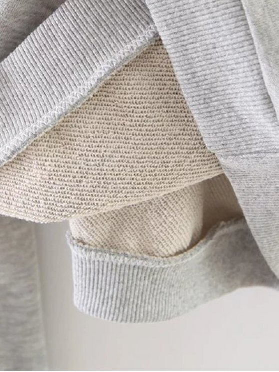 Ice Skates Print Pullover Sweatshirt - GRAY S Mobile
