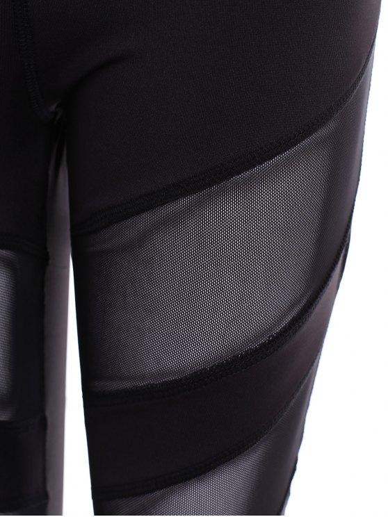 Running Mesh Insert Leggings - BLACK M Mobile