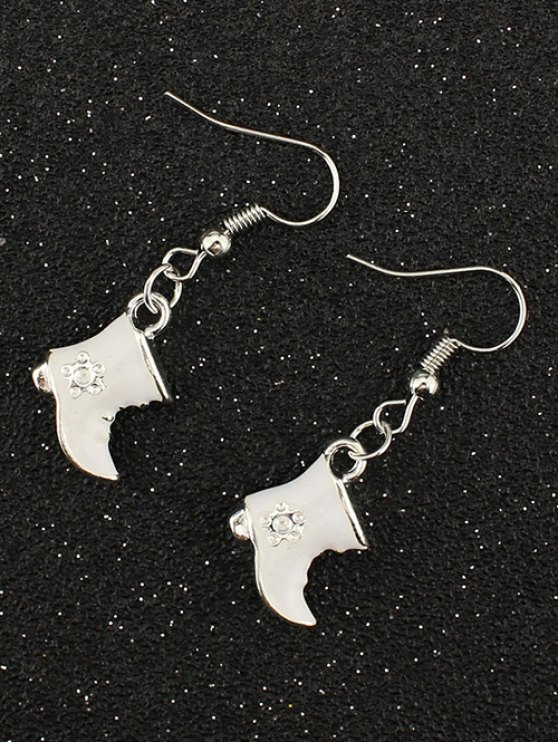 Rhinestone Moon Christmas Boots Earrings -   Mobile