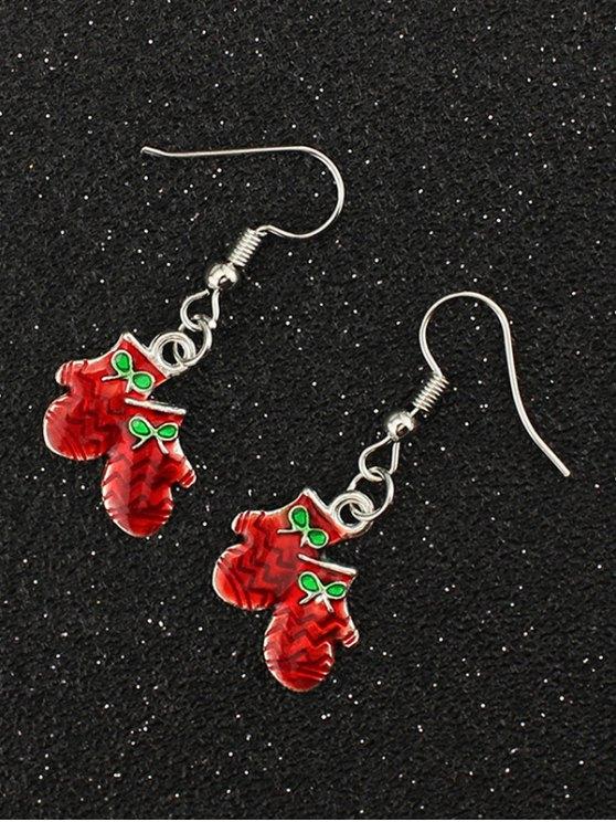 Christmas Bows Gloves Gift Earrings -   Mobile