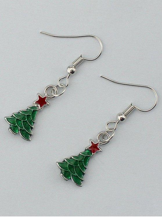 Christmas Tree Pentagram Gift Earrings -   Mobile