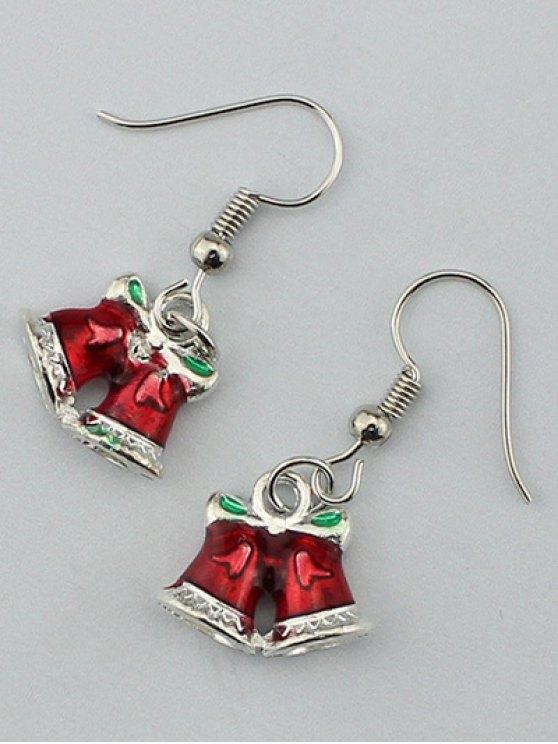 Christmas Bowknot Bells Drop Earrings -   Mobile