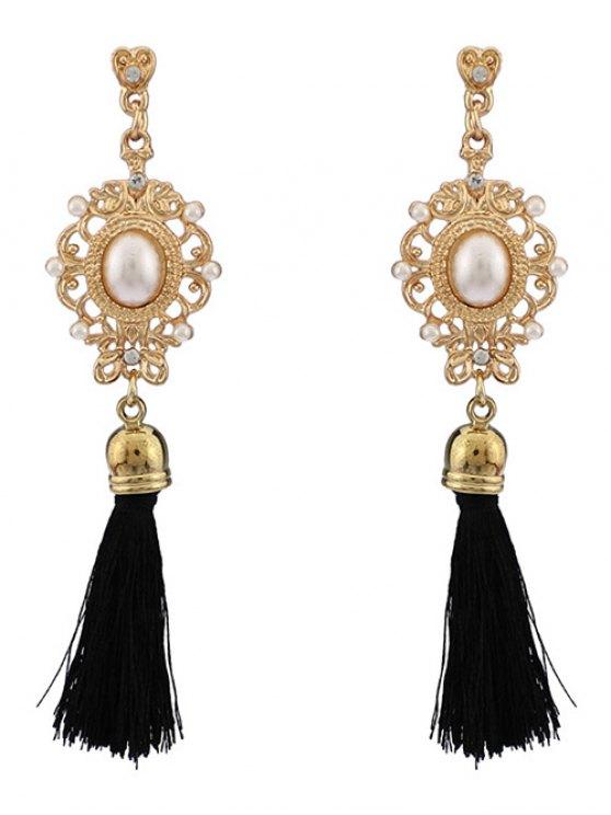 Faux Pearl Tassel Earrings -   Mobile