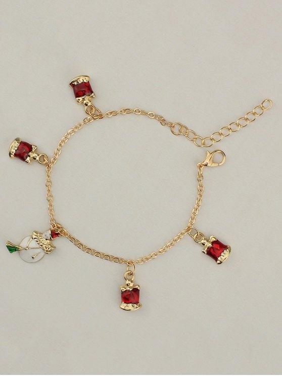 Christmas Snowman Bells Charm Bracelet -   Mobile