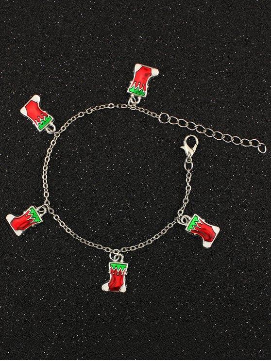 Christmas Gift Boots Charm Bracelet -   Mobile