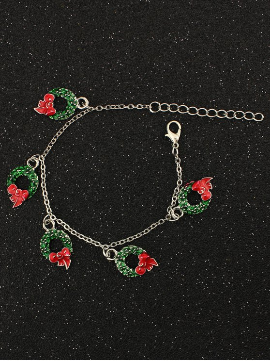 Christmas Bows Garland Charm Bracelet -   Mobile