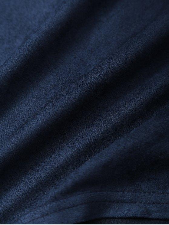Halter Flounce Ruffles Bodysuit - DEEP BLUE XL Mobile