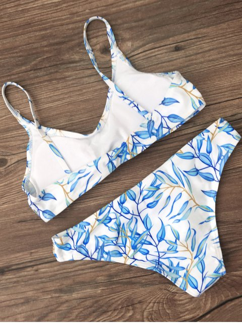 chic Bright Printed Bikini Set - BLUE M Mobile