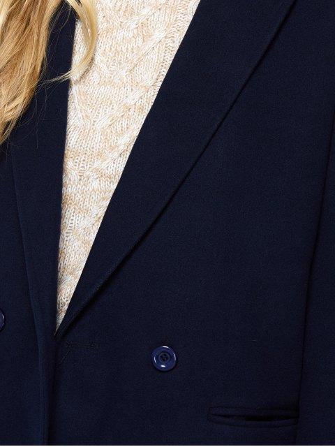 best Laple Collar Maxi Coat - PURPLISH BLUE 2XL Mobile