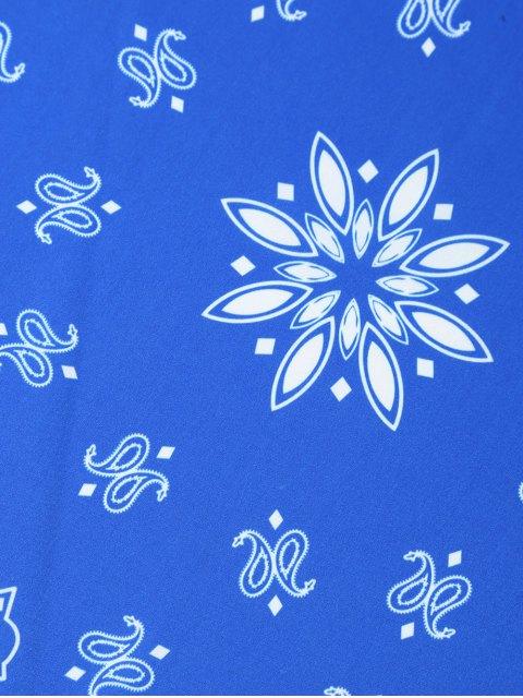 hot Paisley Floral Printed Bandana -   Mobile