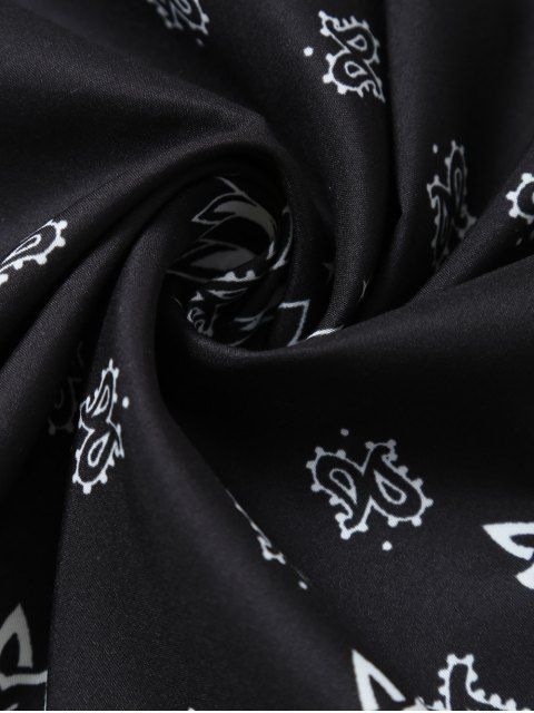 outfits Paisley Floral Printed Bandana - BLACK  Mobile