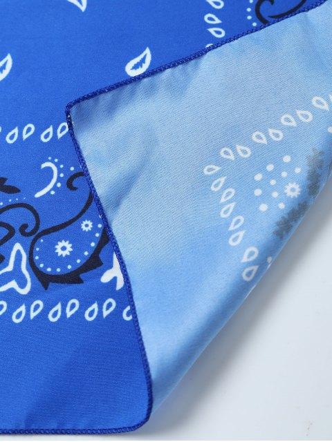 fashion Paisley Printed Bandana - BLUE  Mobile