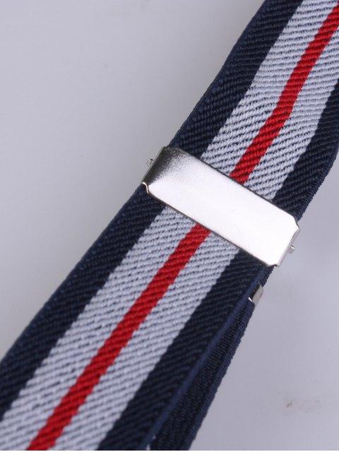 latest Striped Adjustable Three Clips Elastic Suspenders - PURPLISH BLUE  Mobile