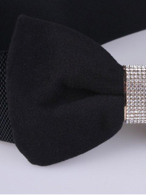 trendy Wide Rhinestone Bowknot Stretch Belt -   Mobile