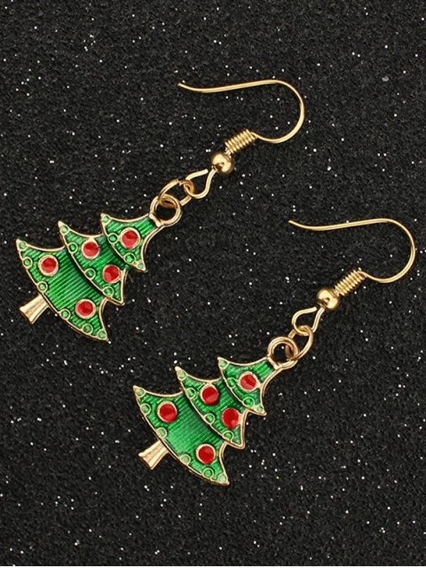 women Christmas Tree Gift Earrings -   Mobile