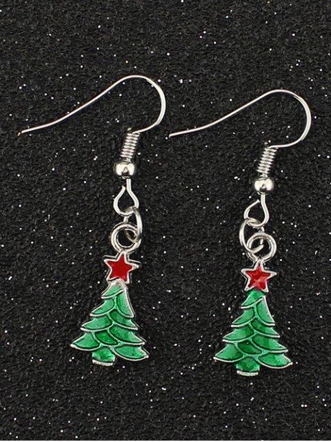 women's Christmas Tree Pentagram Gift Earrings -   Mobile