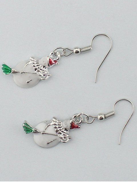 lady Christmas Snowman Gift Earrings -   Mobile