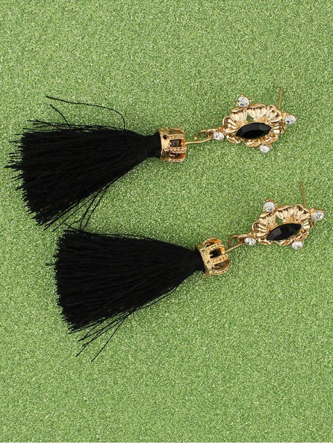new Rhinestone Tassel Crown Earrings -   Mobile