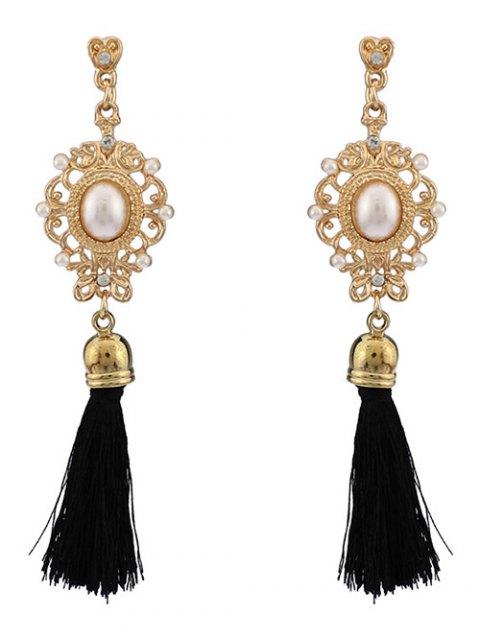 hot Faux Pearl Tassel Earrings -   Mobile