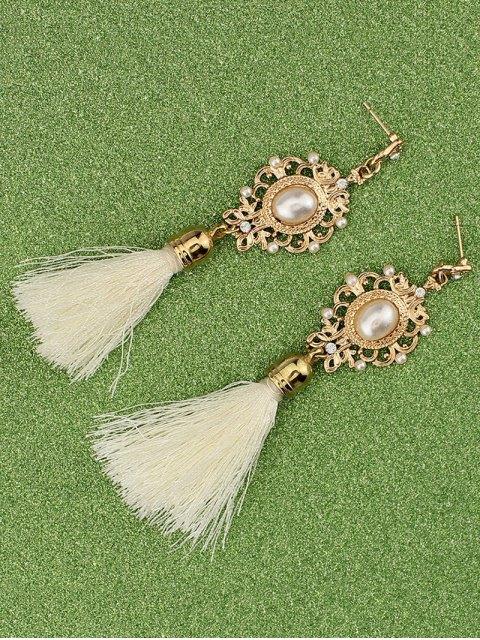 outfit Faux Pearl Tassel Earrings -   Mobile