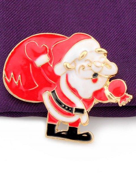 shop Christmas Santa Claus Gift Brooch - GOLDEN  Mobile