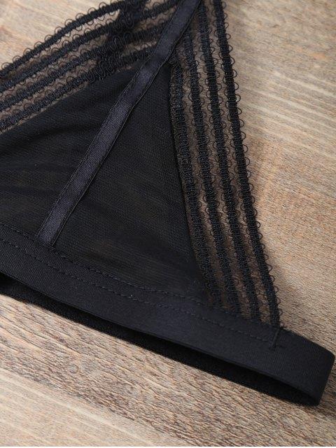 affordable Push Up Adjustable Straps Swim Top - BLACK 2XL Mobile